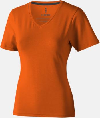 Orange (dam) Vuxen t-shirts i eko-bomull med reklamtryck