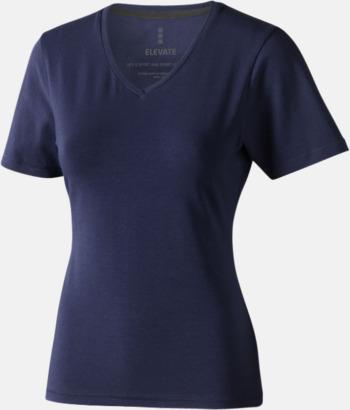Marinblå (dam) Vuxen t-shirts i eko-bomull med reklamtryck