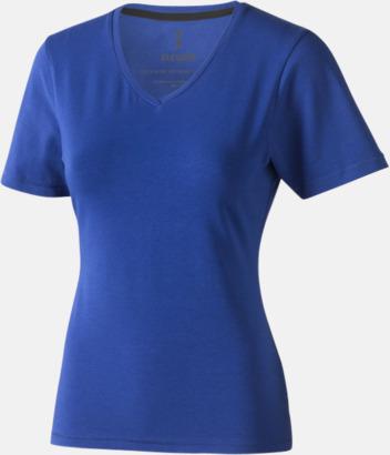 Blå (dam) Vuxen t-shirts i eko-bomull med reklamtryck