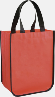 Röd Små non woven-kassar med reklamtryck