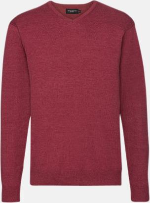 Cranberry Marl (herr) Pullovers i herr- och dammodell med reklamlogo
