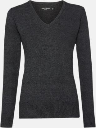 Charcoal Marl (dam) Pullovers i herr- och dammodell med reklamlogo