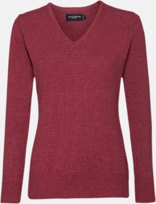 Cranberry Marl (dam) Pullovers i herr- och dammodell med reklamlogo