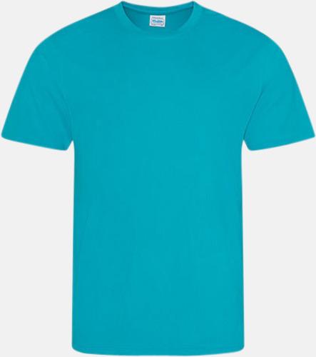 Turquoise Blue Billig funktionströja med eget tryck
