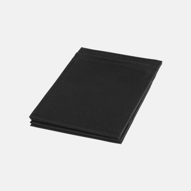 Svart Korthållare i polyester med RFID-skydd med reklamtryck