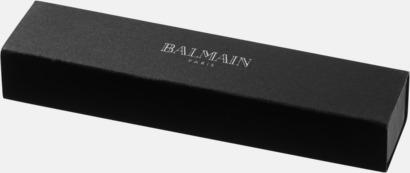 Presentförpackning Förgylld bläckpenna från Balmain med reklamtryck
