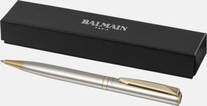 Förgylld bläckpenna från Balmain med reklamtryck
