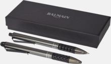 Elegant Balmain pennset med reklamtryck