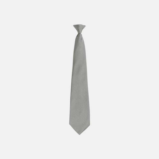 Pale Grey Slipsar med spännen - med reklamtryck