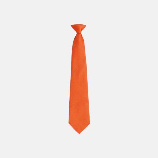Orange Slipsar med spännen - med reklamtryck