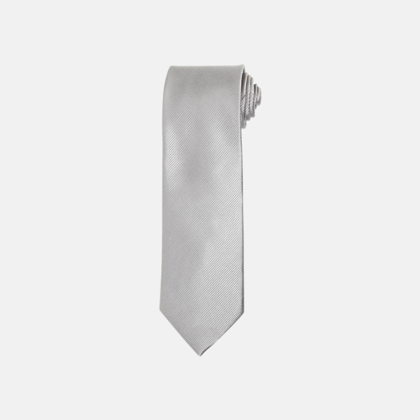 Silver Slipsar i silke med reklamtryck