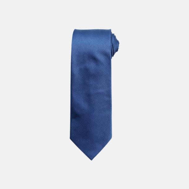 Royal Slipsar i silke med reklamtryck
