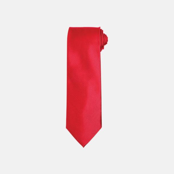Röd Slipsar i silke med reklamtryck