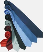 Slipsar i silke med reklamtryck