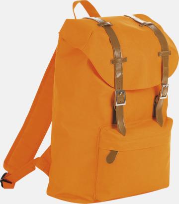 Orange Trendiga laptopryggsäckar med reklamtryck