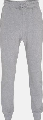 Mélange Grey Ekologiska Sweatpants med eget reklamtryck