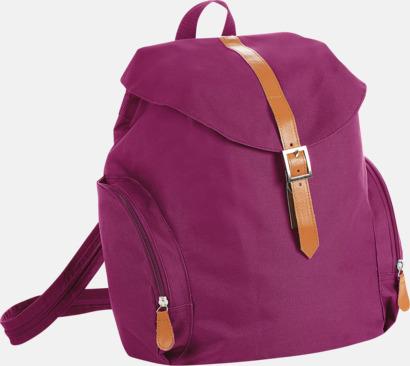 Raspberry Moderna ryggsäckar med 1 eller 2 remmar - med reklamtryck
