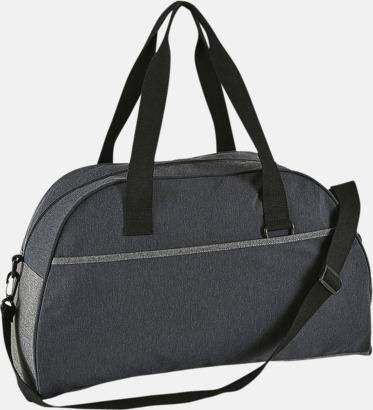 Charcoal Melange Mörka sport- & resväskor med reklamtryck