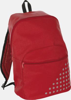 Röd Prickiga ryggsäckar med reklamtryck