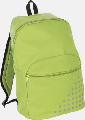 Lime Prickiga ryggsäckar med reklamtryck