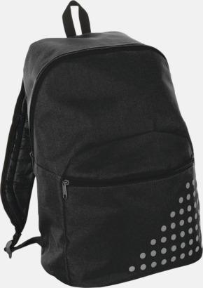 Svart Prickiga ryggsäckar med reklamtryck