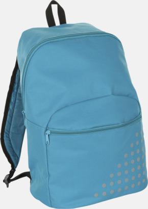 Aqua Prickiga ryggsäckar med reklamtryck