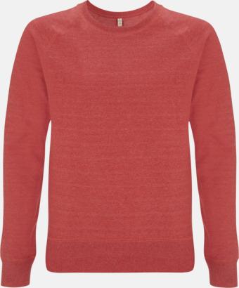 Mélange Red Sweatshirt av återvunnet material med eget reklamtryck