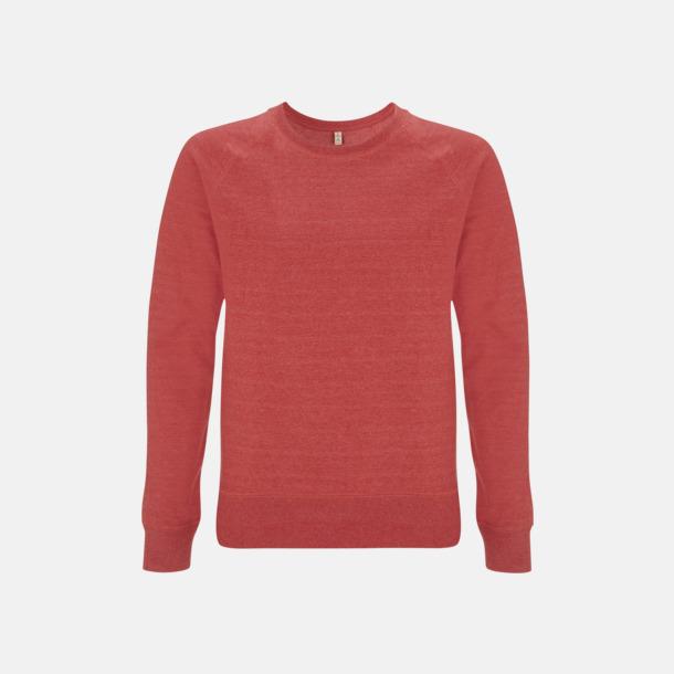 Melange Red Sweatshirt av återvunnet material med eget reklamtryck