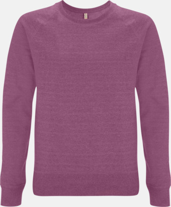 Mélange Plum Sweatshirt av återvunnet material med eget reklamtryck