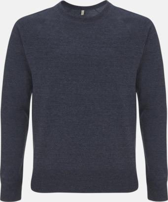 Mélange Navy Sweatshirt av återvunnet material med eget reklamtryck