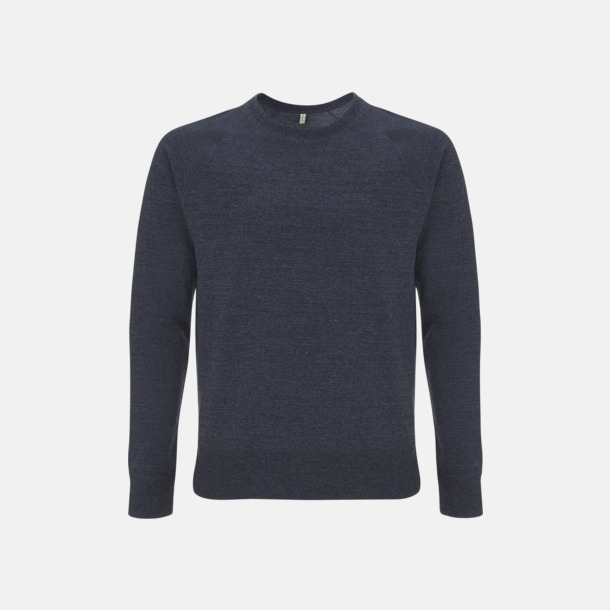 Melange Navy Sweatshirt av återvunnet material med eget reklamtryck