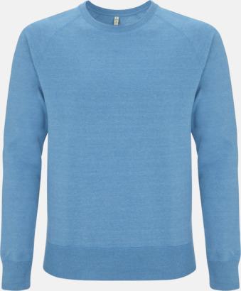 Mélange Mid Blue Sweatshirt av återvunnet material med eget reklamtryck