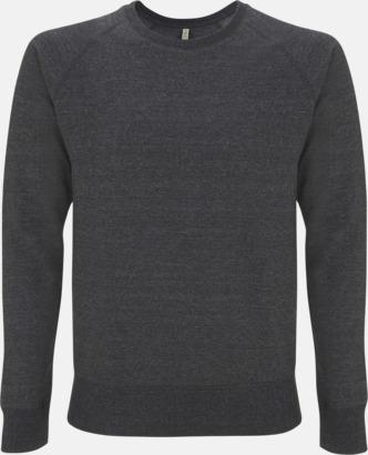 Mélange Black Sweatshirt av återvunnet material med eget reklamtryck