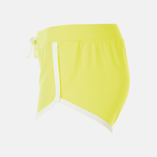 Korta och färgglada retro shorts med reklamtryck