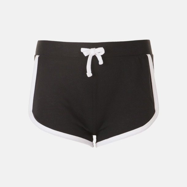Svart Korta och färgglada retro shorts med reklamtryck
