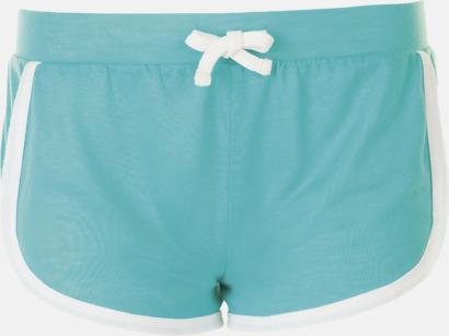 Caribbean Blue Korta och färgglada retro shorts med reklamtryck