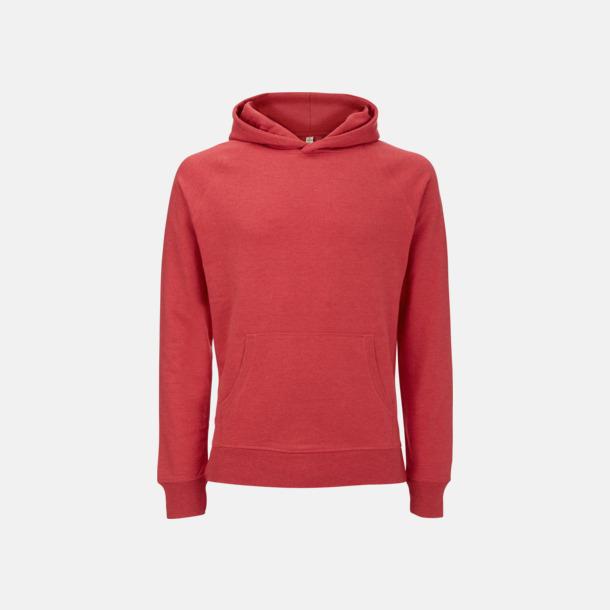 Melange Red Hoodies i återvunnet material med eget reklamtryck