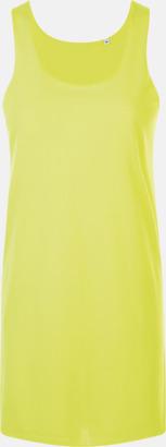 Neon Yellow Stora, långa linnen med reklamtryck