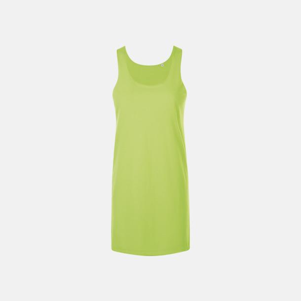 Neon Green Stora, långa linnen med reklamtryck