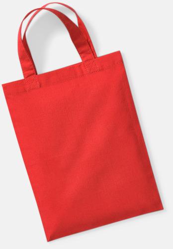 Bright Red Små presentpåsar i bomull med reklamtryck