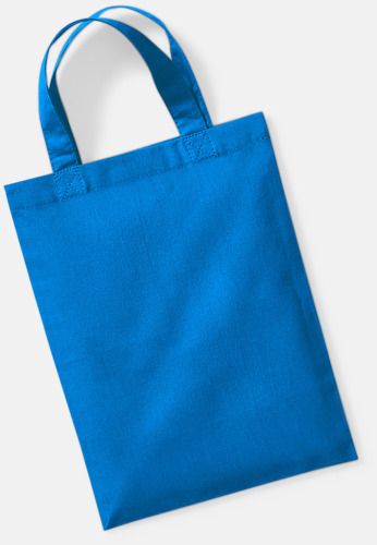 Sapphire Blue Små presentpåsar i bomull med reklamtryck