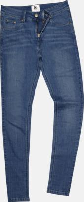 Mid Blue Wash (dam) Tighta jeans med reklamlogo
