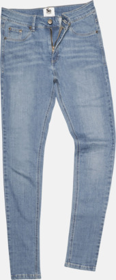 Light Blue Wash (dam) Tighta jeans med reklamlogo