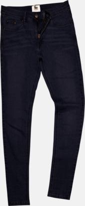 Svart (dam) Tighta jeans med reklamlogo