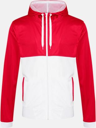 Fire Red/Arctic White Flerfärgade huvudtröjor med reklamtryck
