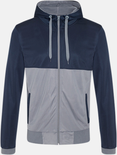 French Navy/Sports Grey Flerfärgade huvudtröjor med reklamtryck