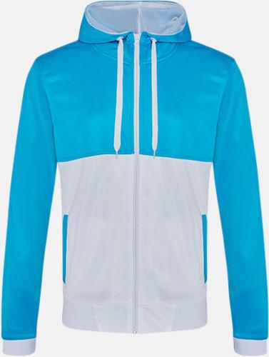 Sapphire Blue/Arctic White Flerfärgade huvudtröjor med reklamtryck