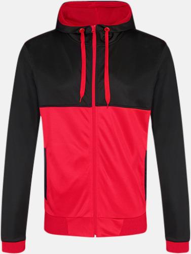 Jet Black/Fire Red Flerfärgade huvudtröjor med reklamtryck