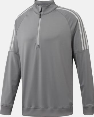 Grå Klassiska Adidas-tröjor med reklamtryck
