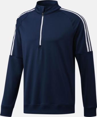 Collegiate Navy Klassiska Adidas-tröjor med reklamtryck